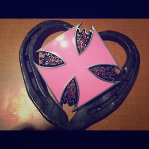 Pink Chopper Belt Buckle